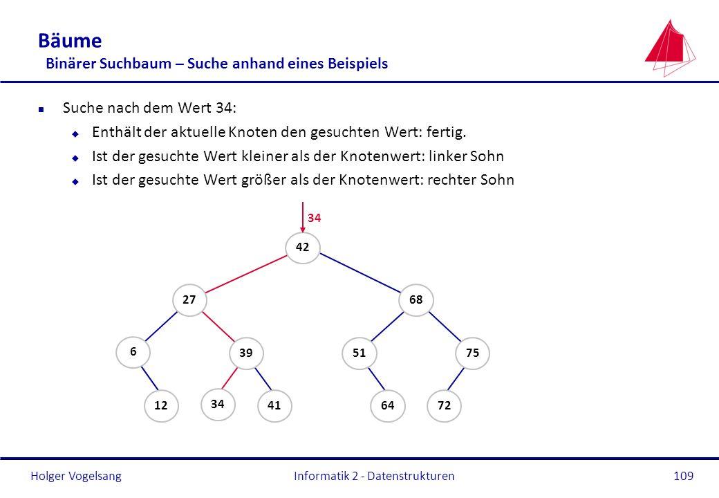 Bäume Binärer Suchbaum – Suche anhand eines Beispiels