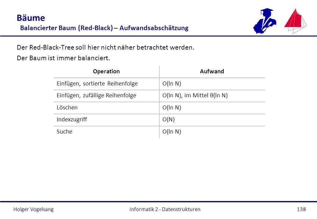 Bäume Balancierter Baum (Red-Black) – Aufwandsabschätzung