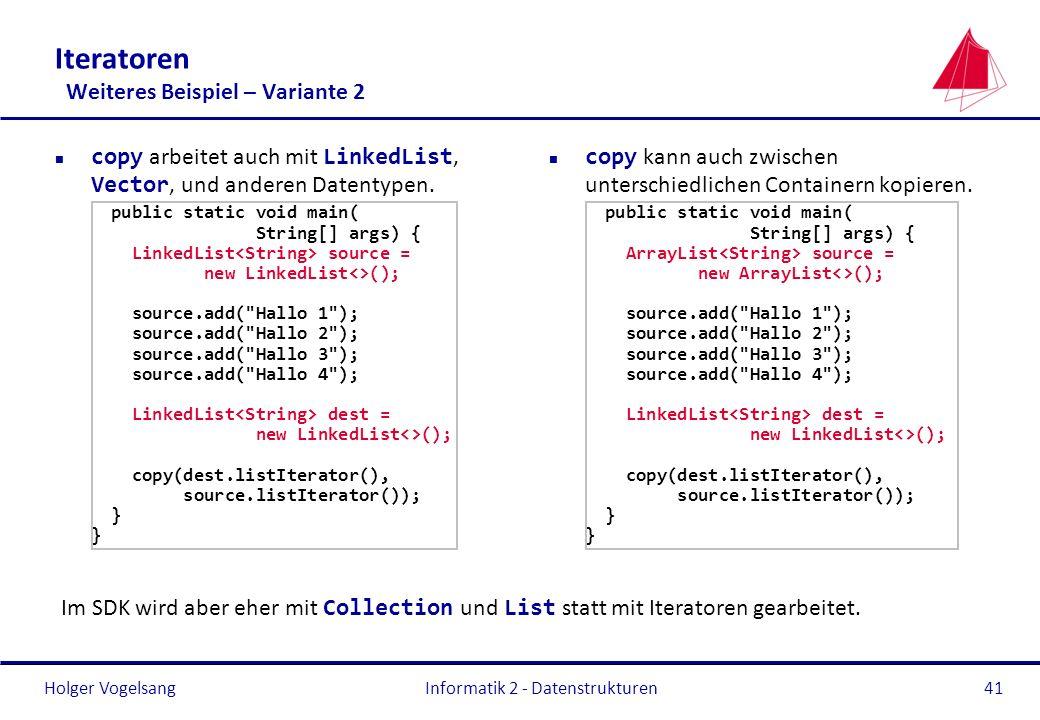 Iteratoren Weiteres Beispiel – Variante 2
