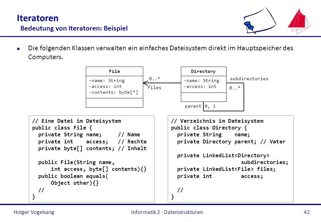 Iteratoren Bedeutung von Iteratoren: Beispiel