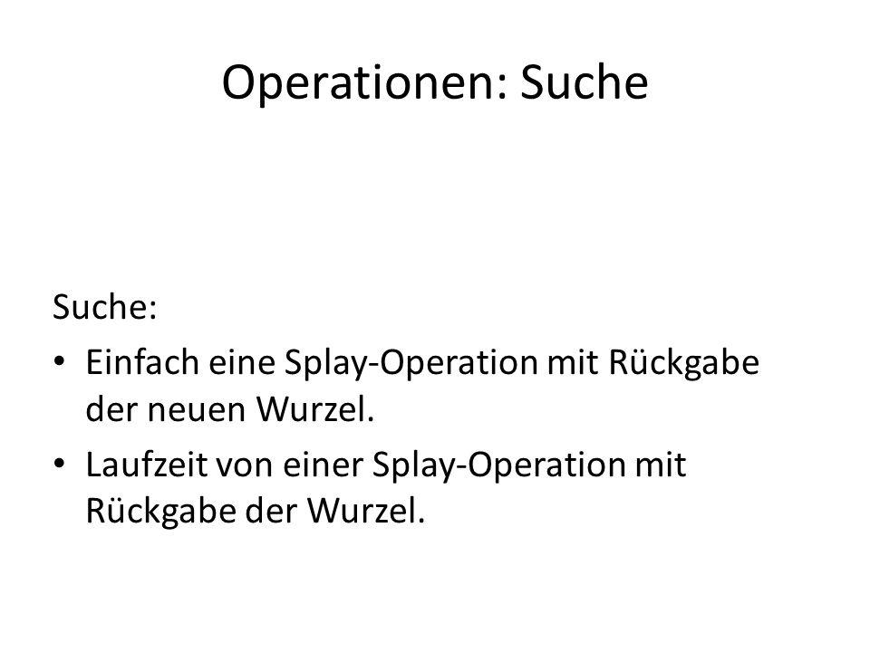 Operationen: Suche Suche:
