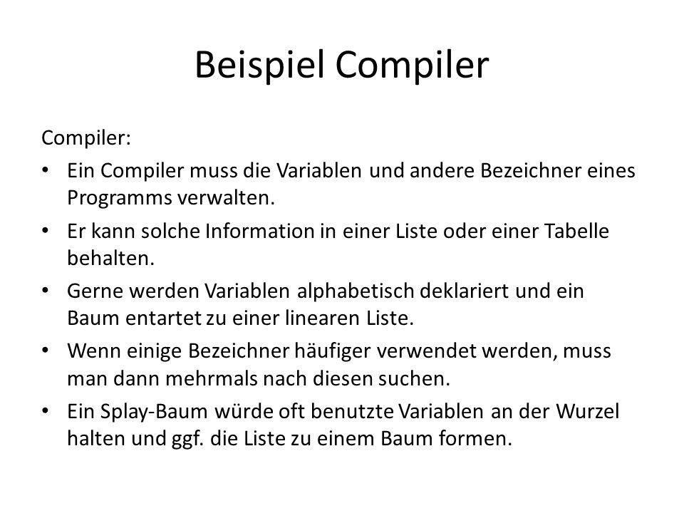 Beispiel Compiler Compiler: