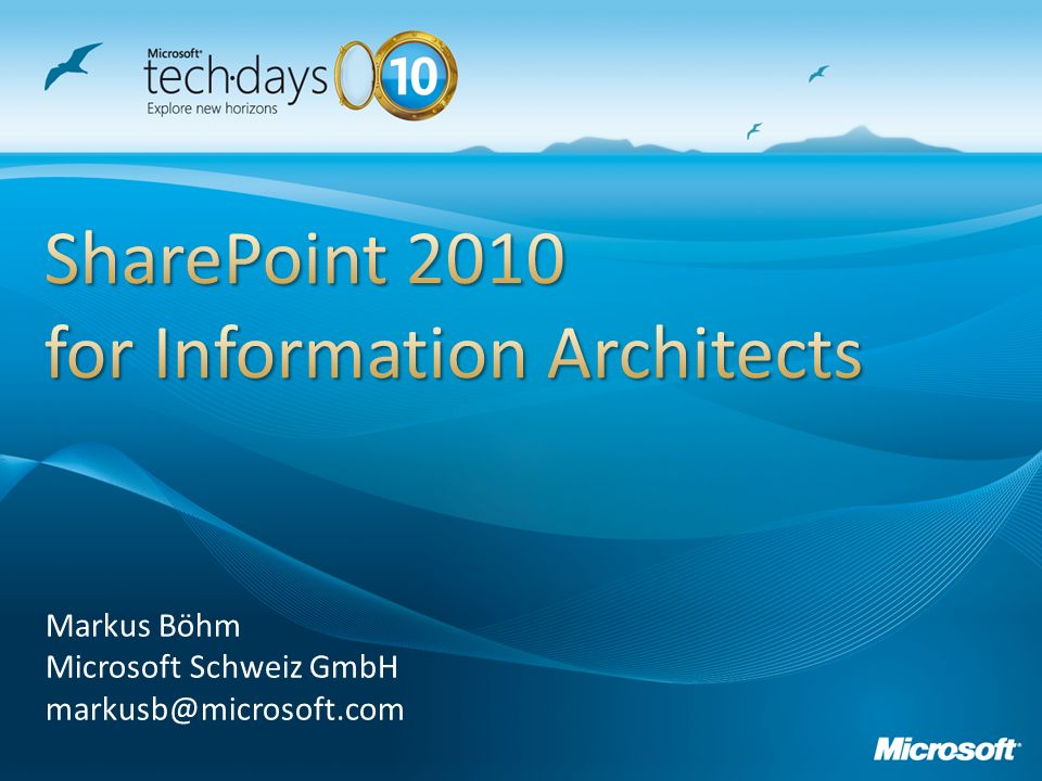 SharePoint 2010 for Information Architects