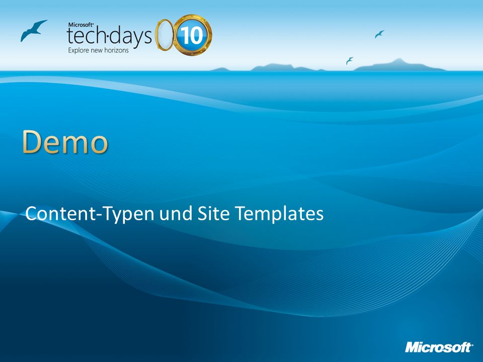 Content-Typen und Site Templates