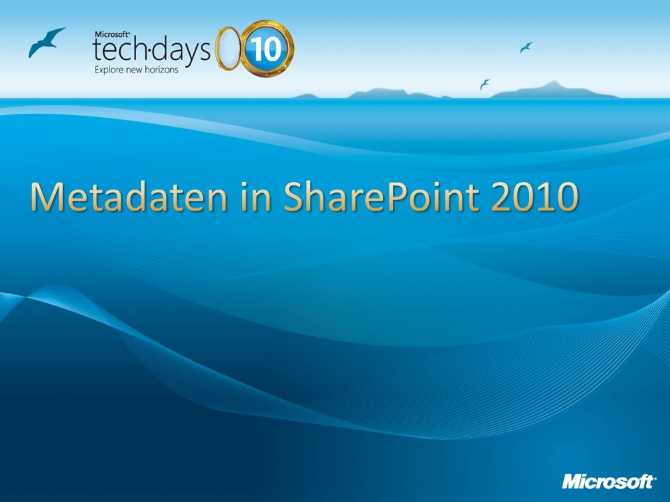 Metadaten in SharePoint 2010