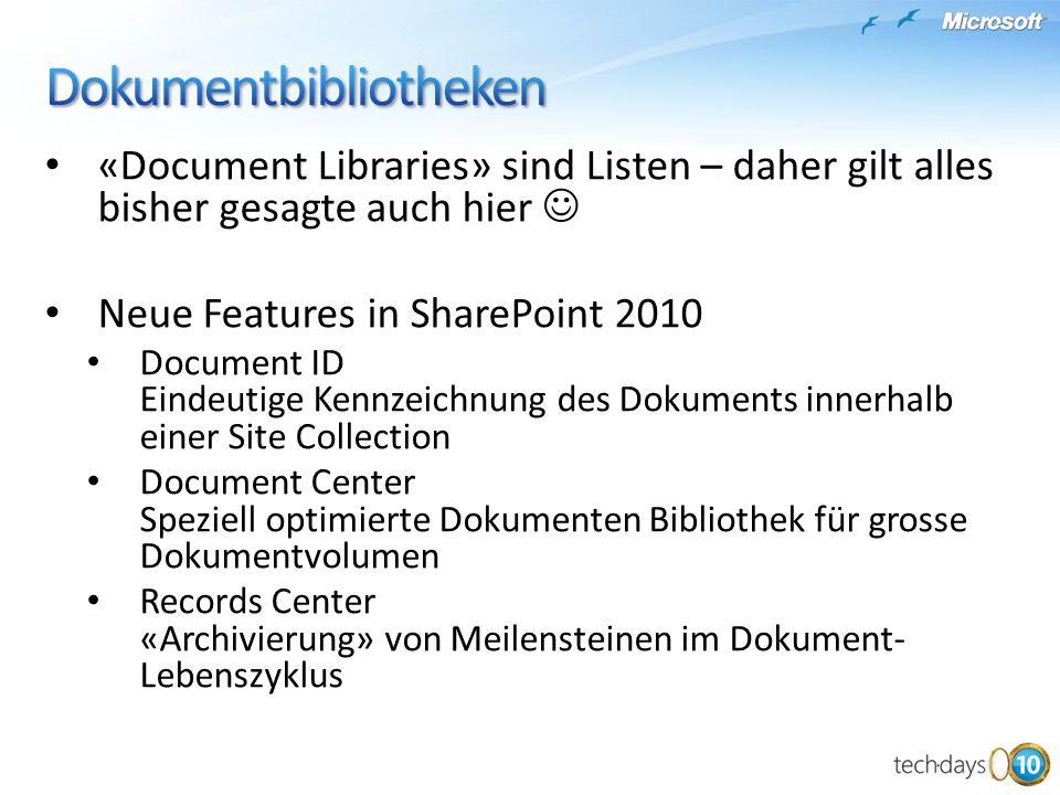 Dokumentbibliotheken