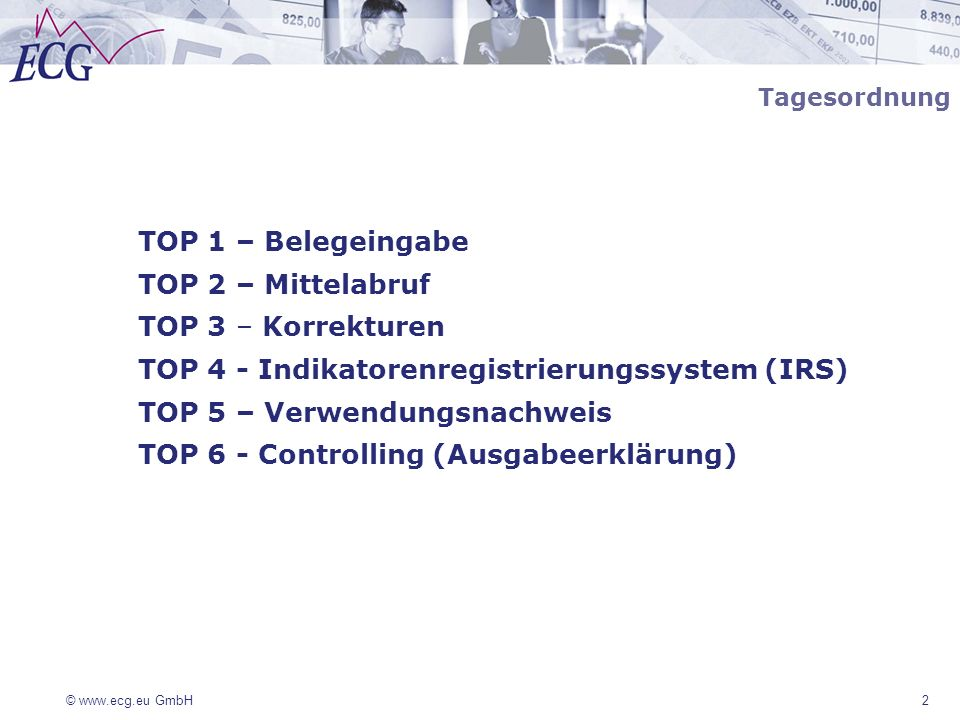 TOP 4 - Indikatorenregistrierungssystem (IRS)