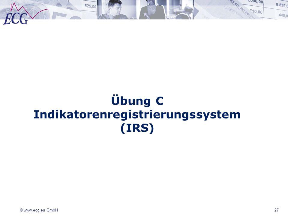 Indikatorenregistrierungssystem (IRS)