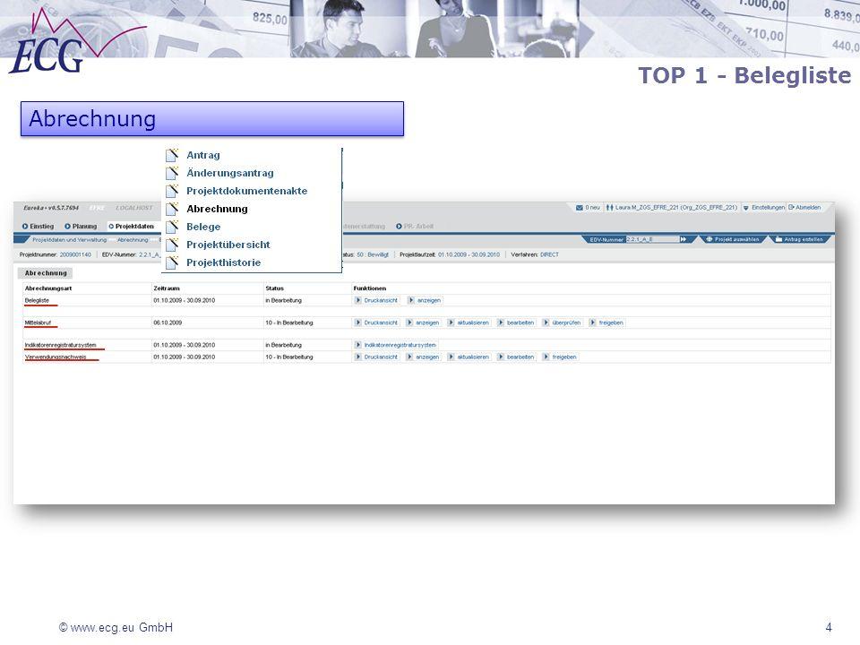 TOP 1 - Belegliste Abrechnung 4