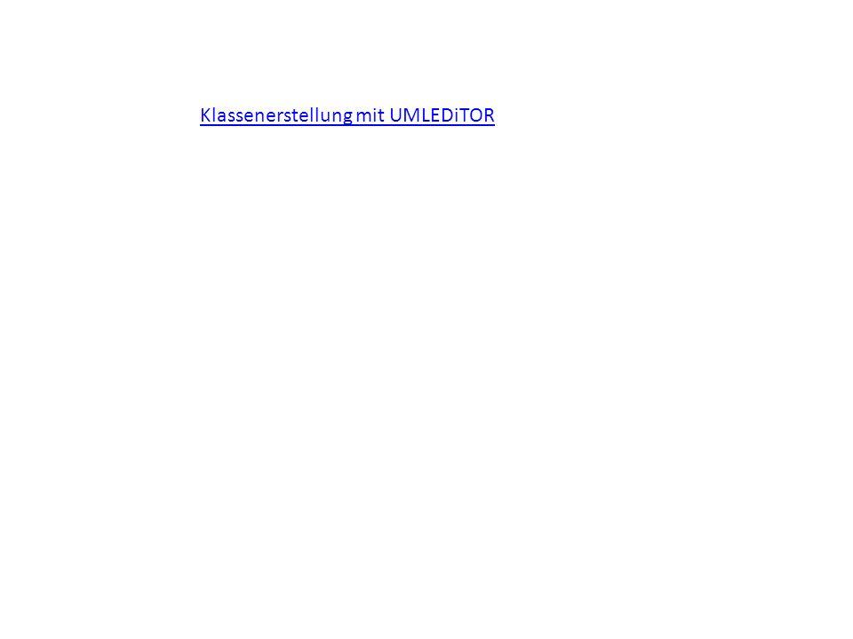 Klassenerstellung mit UMLEDiTOR