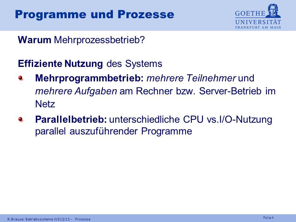 Programme und Prozesse