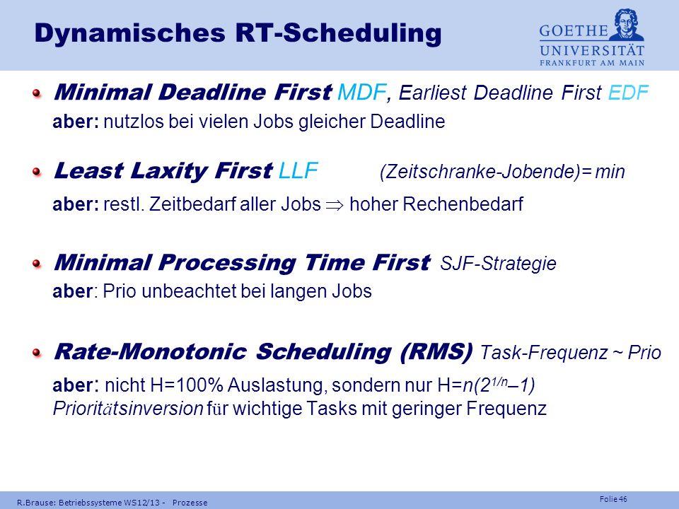 Dynamisches RT-Scheduling