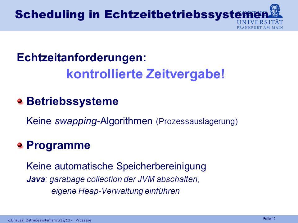Scheduling in Echtzeitbetriebssystemen