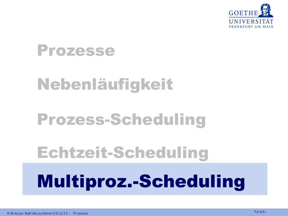 Multiproz.-Scheduling
