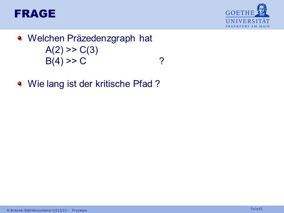 FRAGE Welchen Präzedenzgraph hat A(2) >> C(3) B(4) >> C
