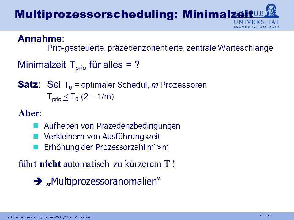 Multiprozessorscheduling: Minimalzeit