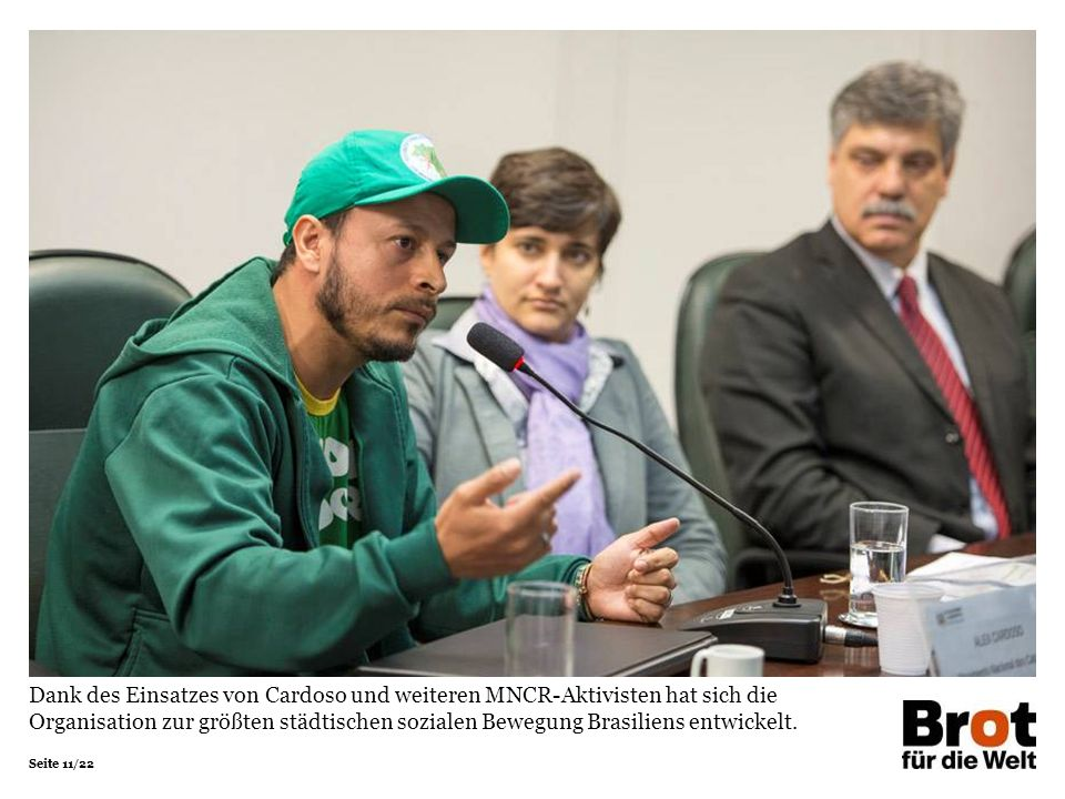 Dank des Einsatzes von Cardoso und weiteren MNCR-Aktivisten hat sich die Organisation zur größten städtischen sozialen Bewegung Brasiliens entwickelt.