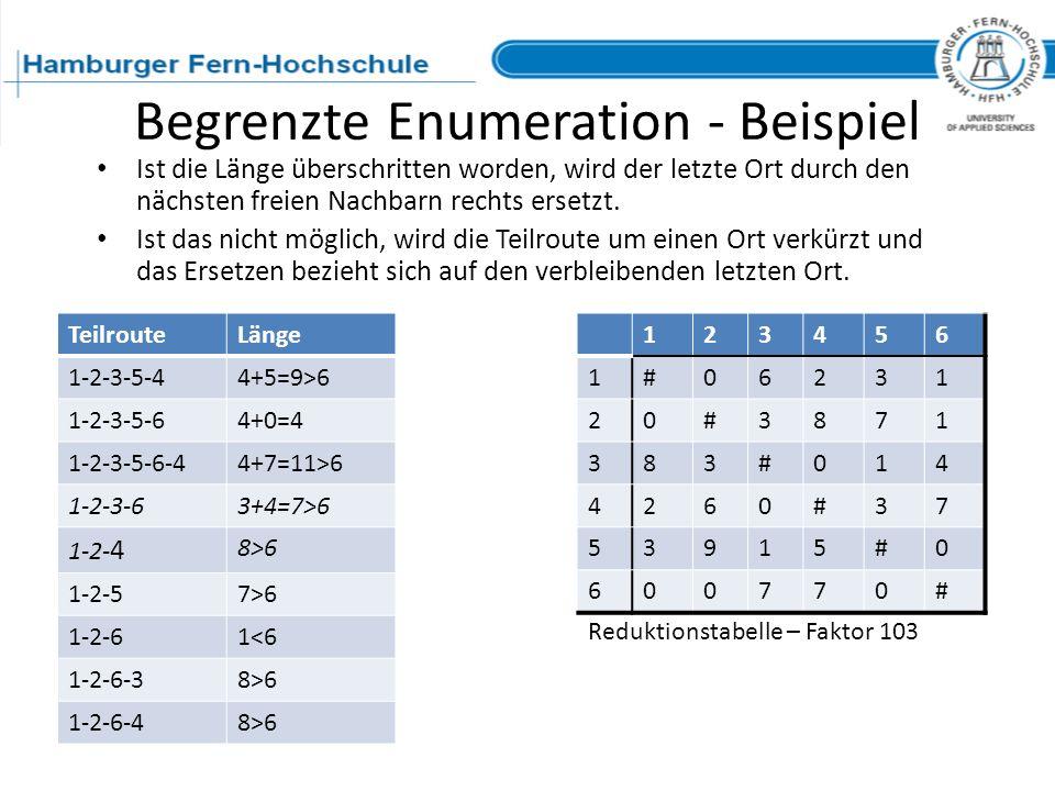 Begrenzte Enumeration - Beispiel
