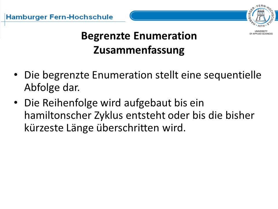 Begrenzte Enumeration Zusammenfassung