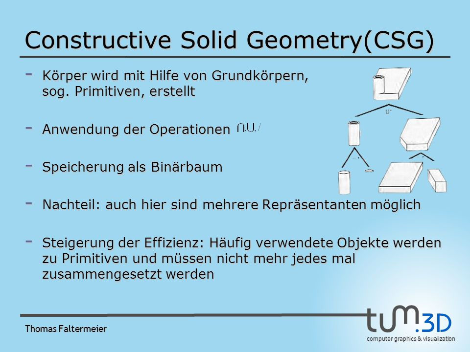 Constructive Solid Geometry(CSG)‏
