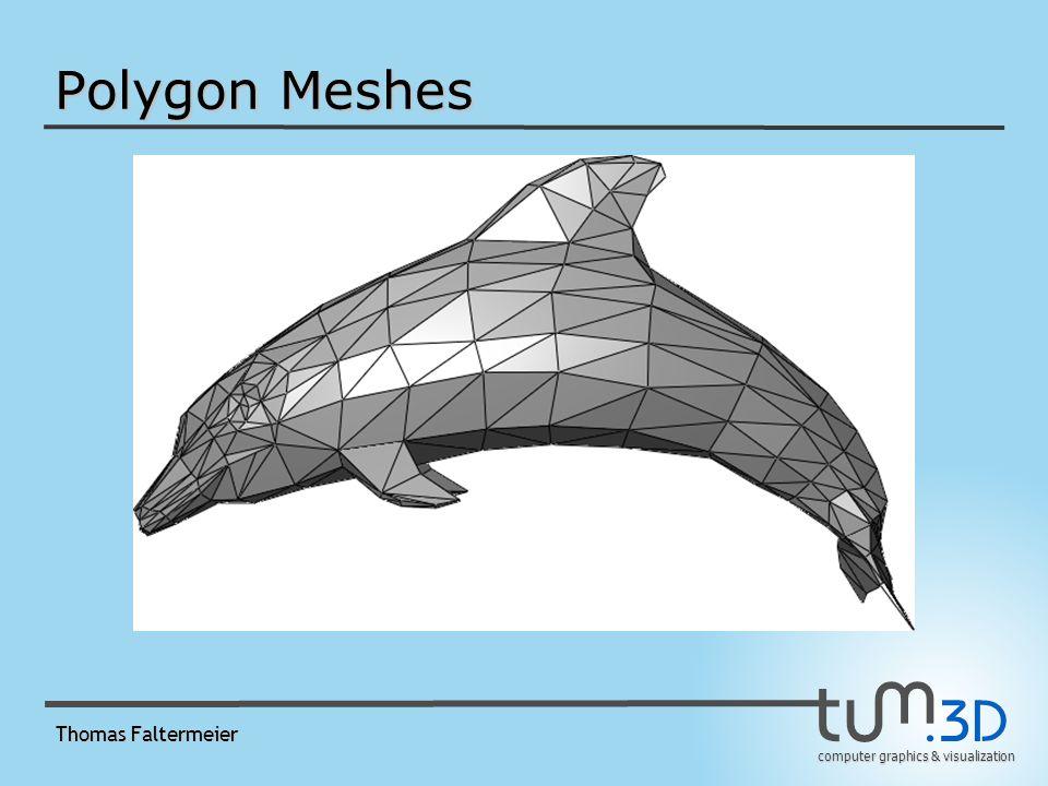 Polygon Meshes Thomas Faltermeier