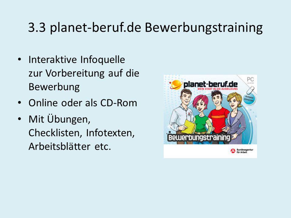 3.3 planet-beruf.de Bewerbungstraining