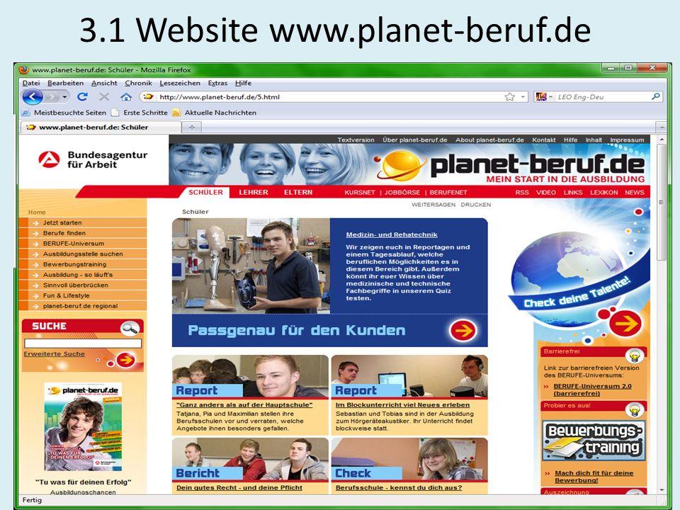 3.1 Website www.planet-beruf.de