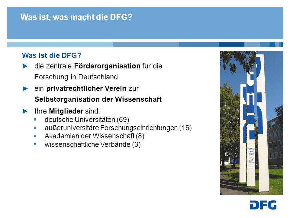 Was ist, was macht die DFG