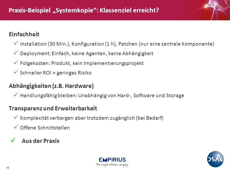 """Praxis-Beispiel """"Systemkopie : Klassenziel erreicht"""