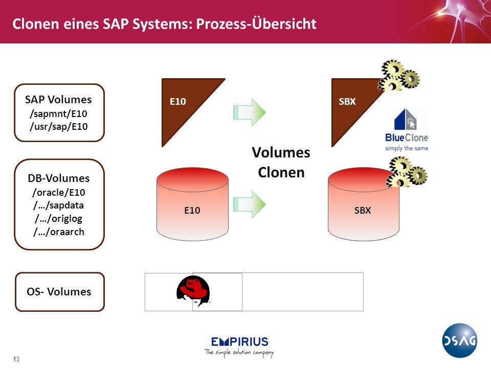 Clone Prozess, Teil 1: EMC, NetApp, …