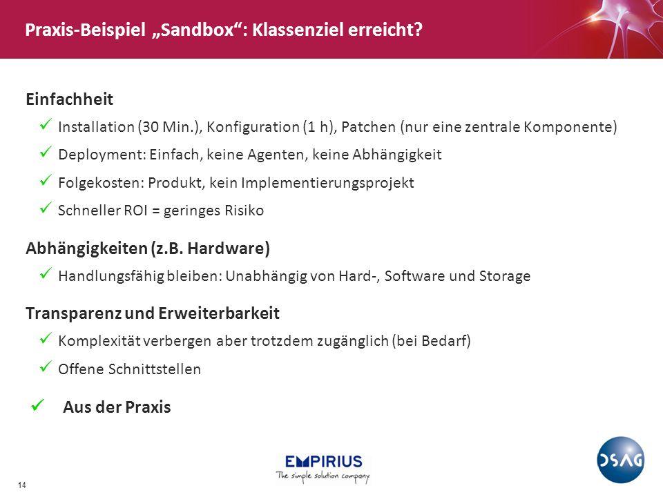 """Praxis-Beispiel """"Sandbox : Klassenziel erreicht"""