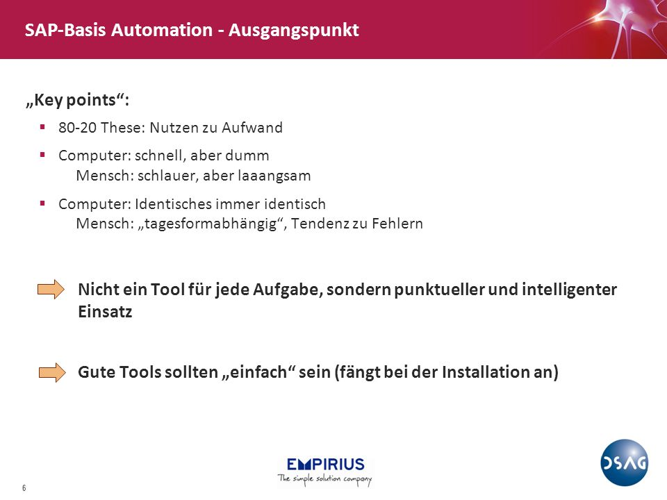 SAP-Basis Automation - Ausgangspunkt
