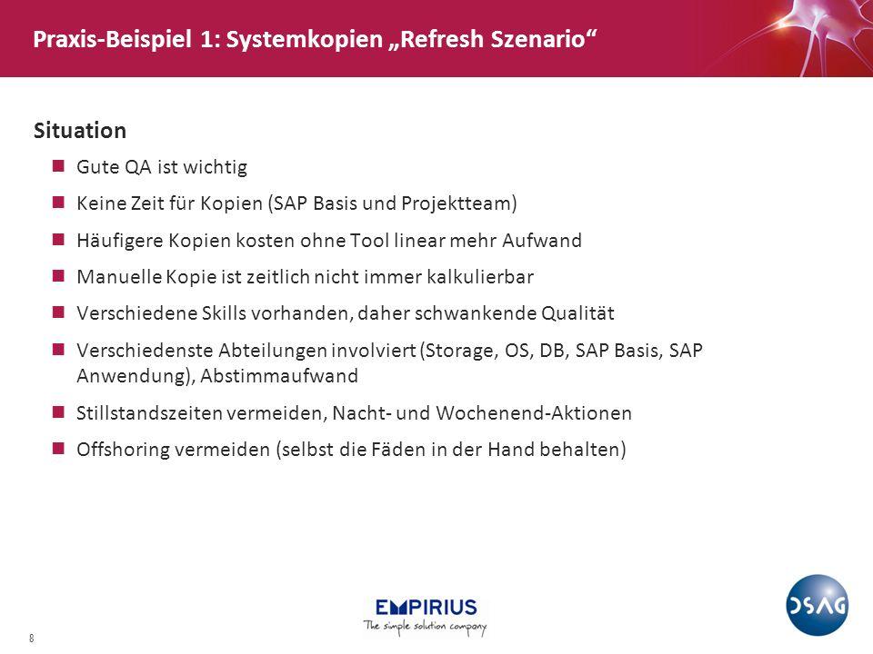 """Praxis-Beispiel 1: Systemkopien """"Refresh Szenario"""
