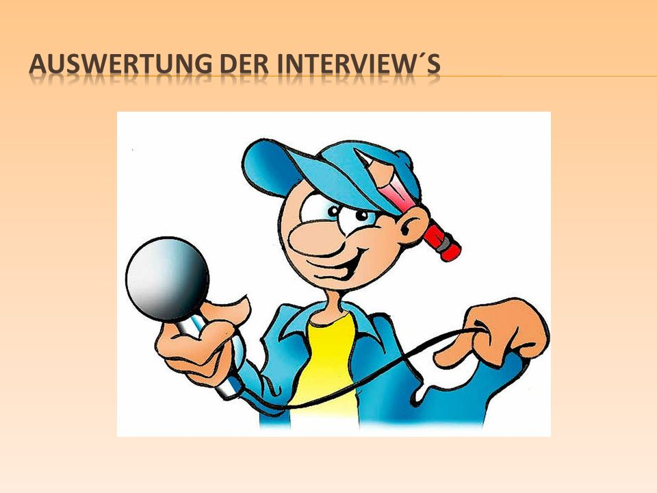 Auswertung der interview´s
