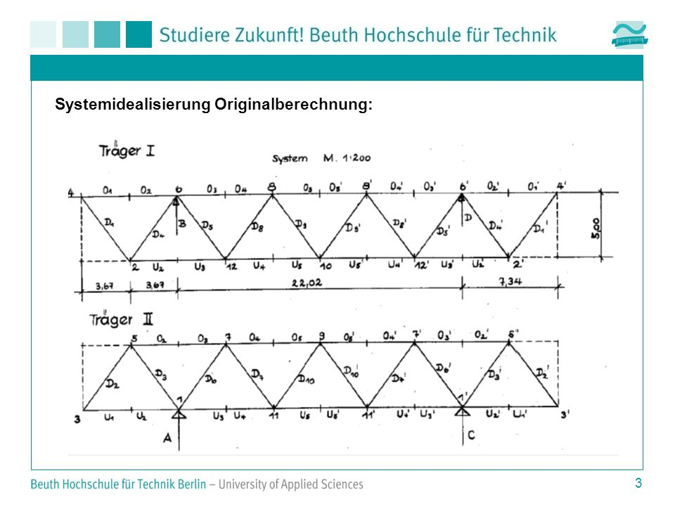 Systemidealisierung Originalberechnung: