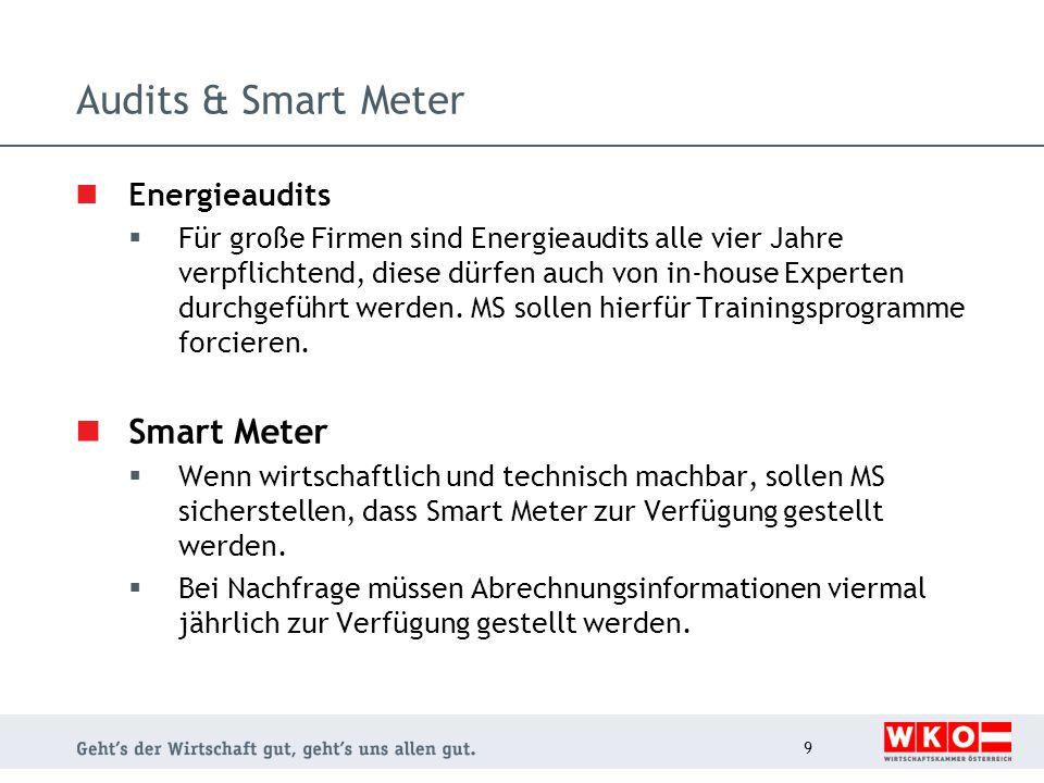 Audits & Smart Meter Smart Meter Energieaudits