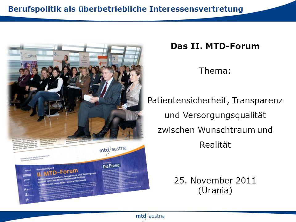 Patientensicherheit, Transparenz und Versorgungsqualität
