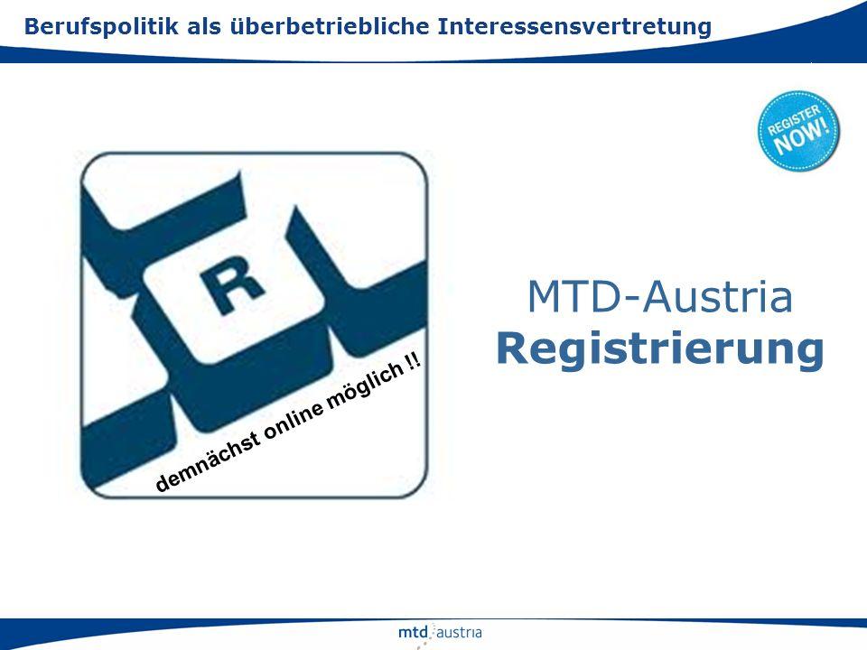 MTD-Austria Registrierung