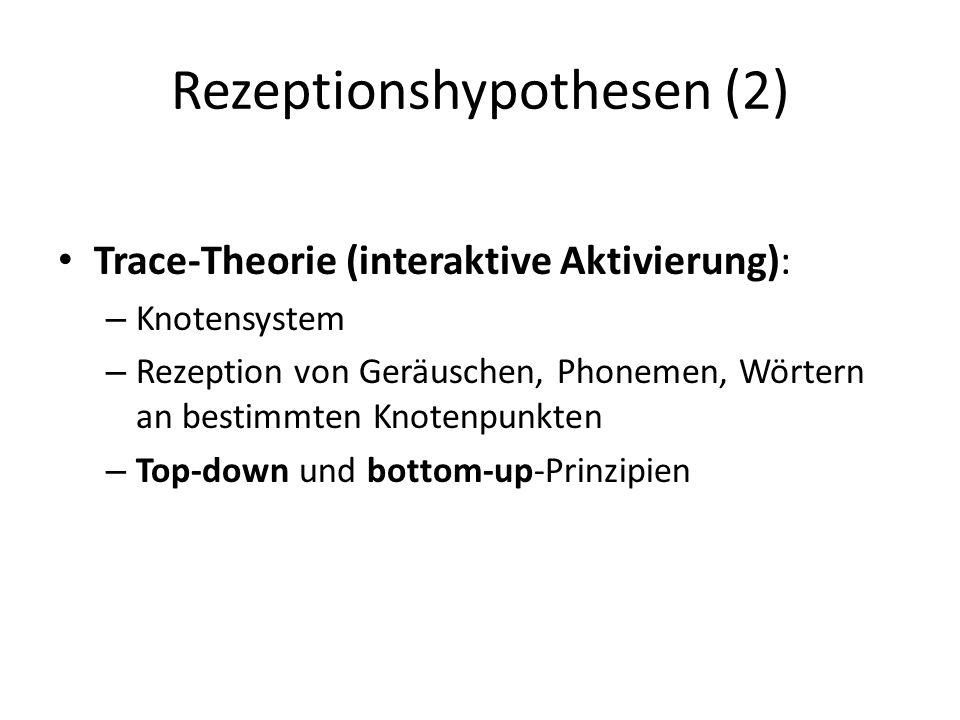 Rezeptionshypothesen (2)