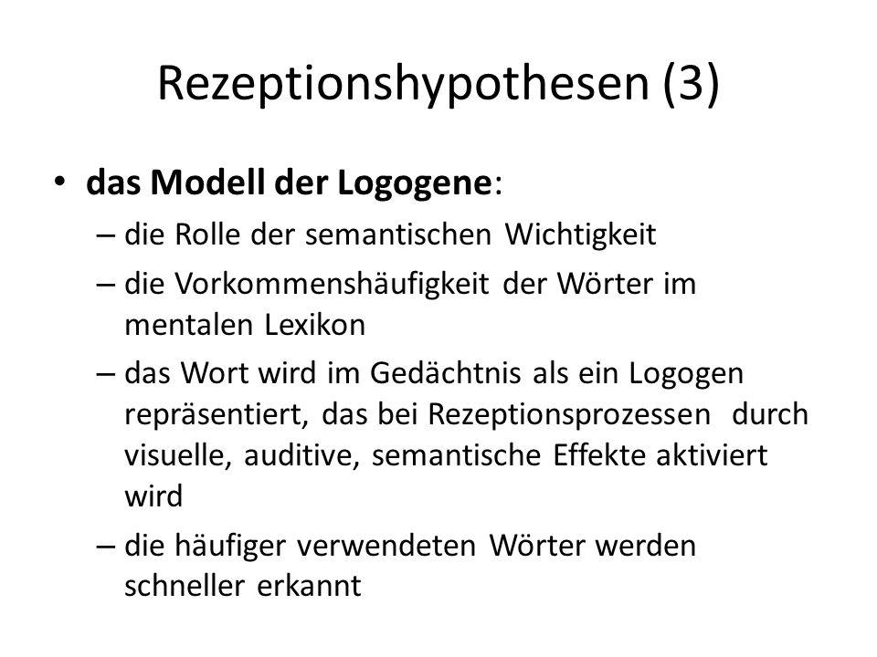 Rezeptionshypothesen (3)