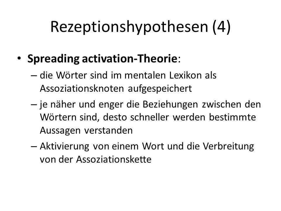 Rezeptionshypothesen (4)