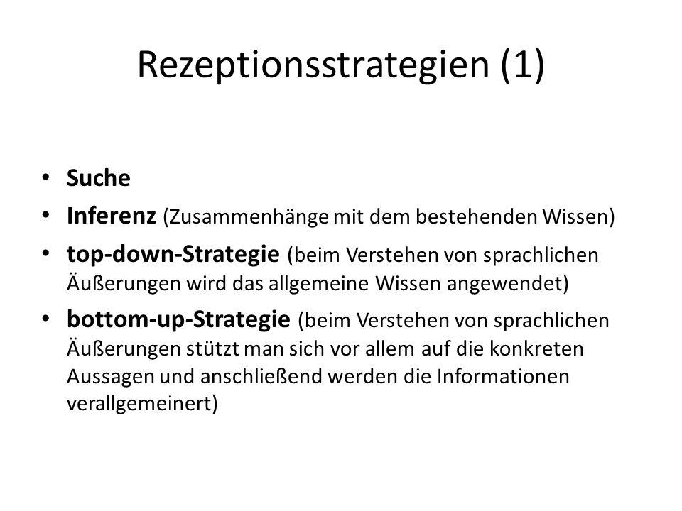 Rezeptionsstrategien (1)