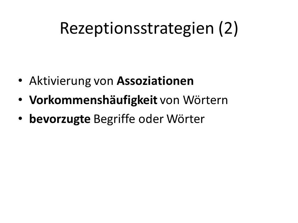 Rezeptionsstrategien (2)