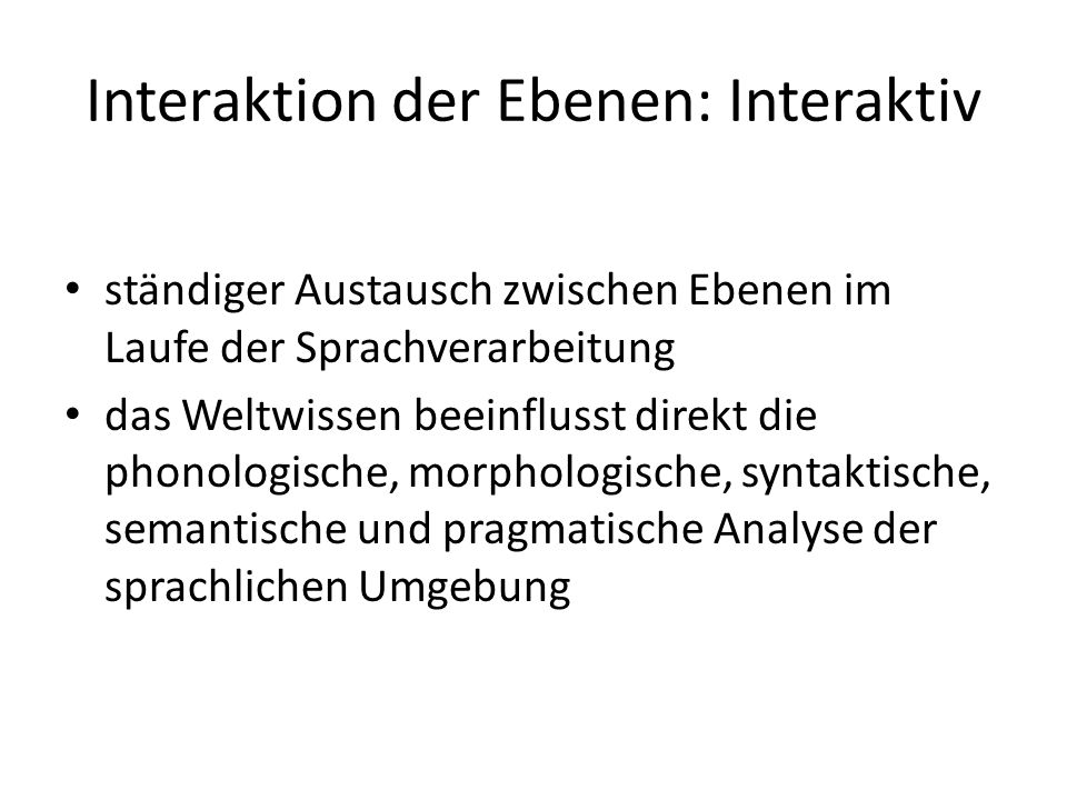 Interaktion der Ebenen: Interaktiv