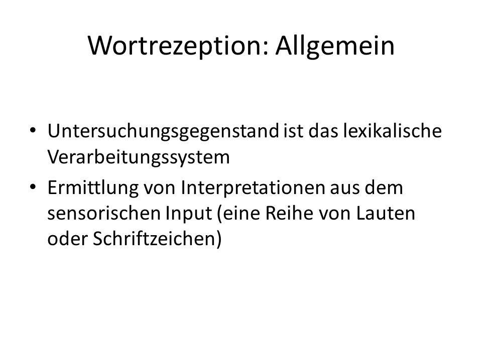 Wortrezeption: Allgemein