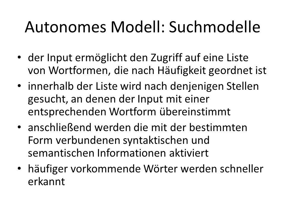 Autonomes Modell: Suchmodelle