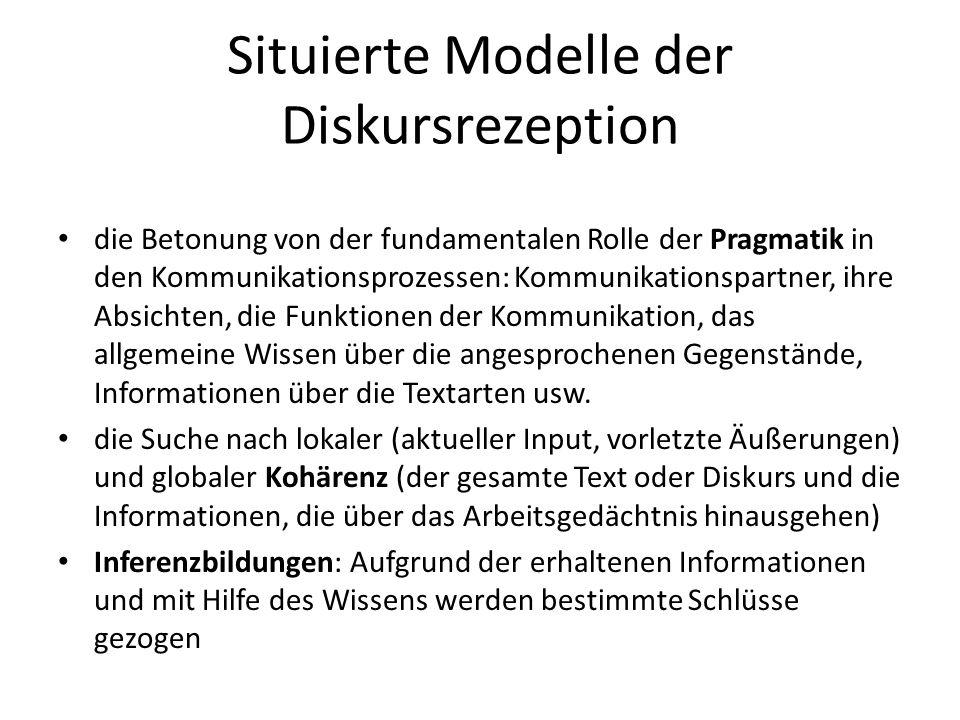 Situierte Modelle der Diskursrezeption
