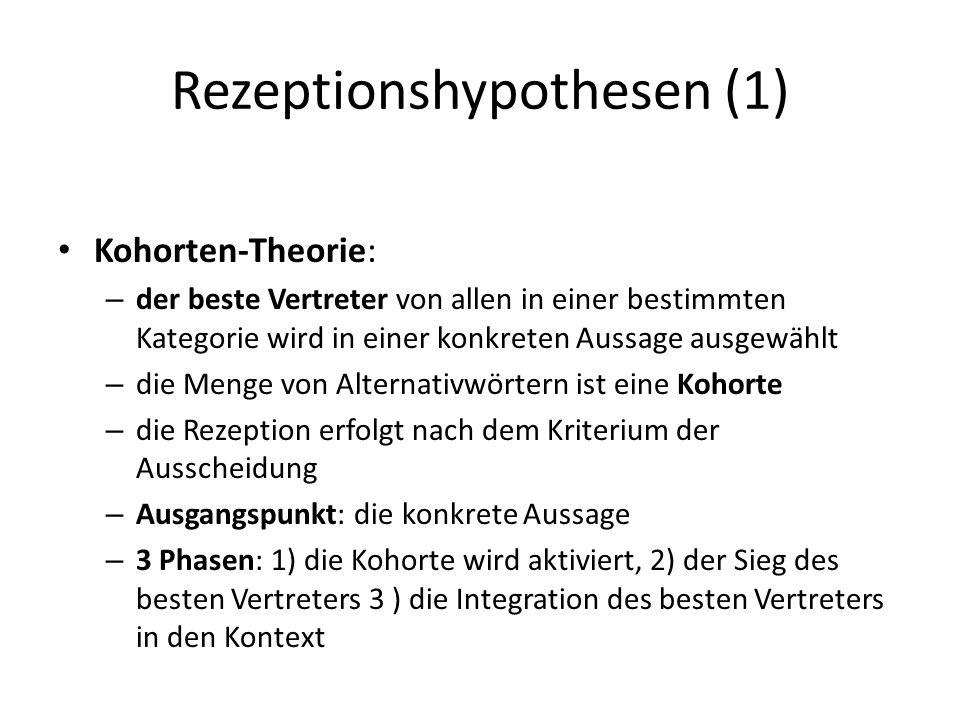 Rezeptionshypothesen (1)