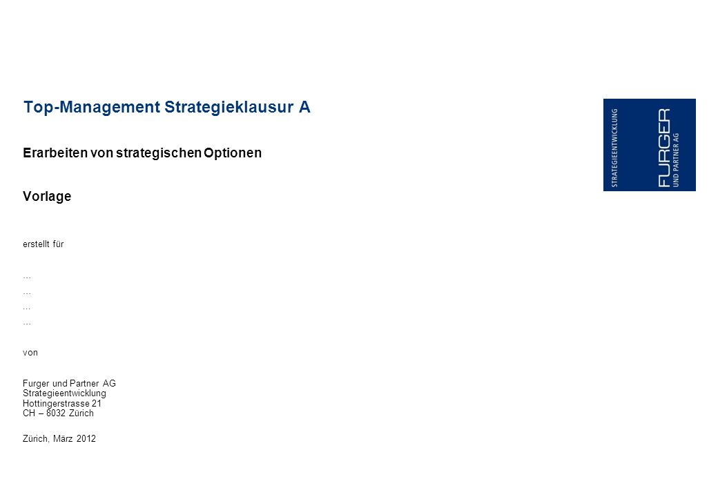 Top-Management Strategieklausur A