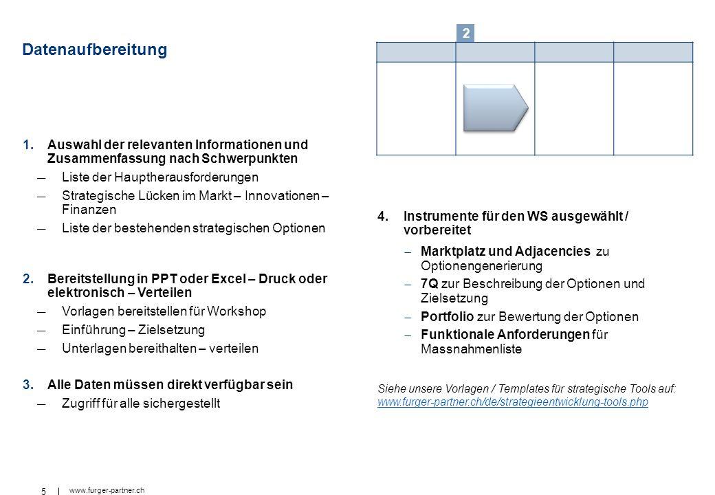 2 Datenaufbereitung. Auswahl der relevanten Informationen und Zusammenfassung nach Schwerpunkten. Liste der Hauptherausforderungen.